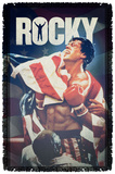 Rocky - Raise Up - Woven Throw Throw Blanket