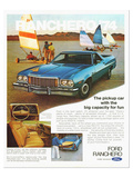 Ford 1974 Capacity Pickup Car Prints