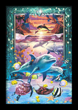 Dolphins 3D Framed Art Affiches