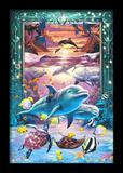 Dolphins 3D Framed Art Prints