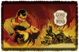 Gone With The Wind - Fire Poster - Woven Throw Throw Blanket