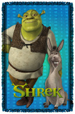 Shrek - Pals - Woven Throw Throw Blanket