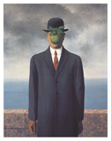Son of Man (Small) Poster by Rene Magritte