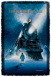 Polar Express - Poster - Woven Throw Throw Blanket