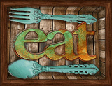 Eat 3D Framed Art Affiches