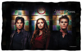 Vampire Diaries - Stained Glass Fleece Blanket Fleece Blanket