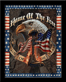 Home Of The Brave 3D Framed Art - Poster
