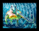 Turtle Honu 3D Framed Art Posters