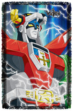 Voltron - Lightning Combine - Woven Throw Throw Blanket