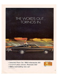 Ford 1968 Torino's In-Pace Car Prints