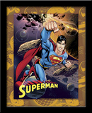 Superman Astroid 3D Framed Art Prints