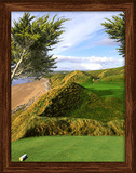 Golf Ireland 3D Framed Art - Poster