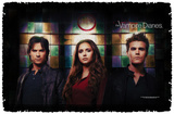 Vampire Diaries - Stained Glass - Woven Throw Throw Blanket