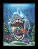 Fun Shark 3D Framed Art Poster