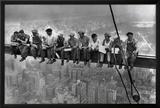 Almuerzo en lo alto de un rascacielos, c.1932 Lámina por Charles C. Ebbets