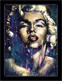 Marilyn Monroe 3D Framed Art Afiche por Stephen Fishwick