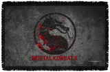 Mortal Kombat X - Stone Logo - Woven Throw Throw Blanket