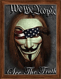 We The People 3D Framed Art Póster por Stephen Fishwick