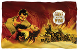 Gone With The Wind - Fire Poster Fleece Blanket Fleece Blanket