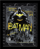 Batman Defender Gotham 3D Framed Art Print