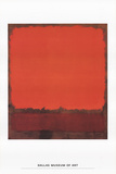 Orange, Red, and Red Art by Mark Rothko
