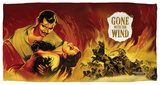 Gone With The Wind - Fire Poster Beach Towel Beach Towel