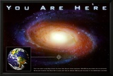 Classic You Are Here Galaxy Space Science Poster Print Póster