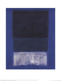 No. 14 White and Greens in Blue Poster von Mark Rothko