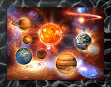 Solar System 3D Framed Art Photographie