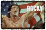 Rocky - American Hero Woven Throw Throw Blanket