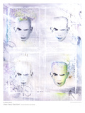 Graffiti Tribute to Jean Paul Gaultier Prints by  Davies and Douglas