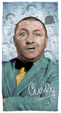 Three Stooges - Curly Heads Beach Towel Beach Towel