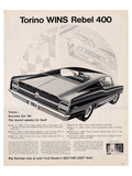 Ford 1968 Torino Wins Rebel400 Poster