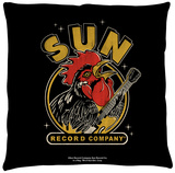 Sun Records - Rocking Rooster Throw Pillow Throw Pillow