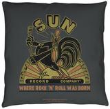 Sun Records - Sun Rooster Throw Pillow Throw Pillow
