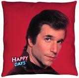 Happy Days - Red Fonz Throw Pillow Throw Pillow
