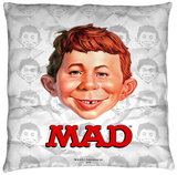 Mad - Alfred Head Throw Pillow Throw Pillow