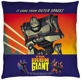 Iron Giant - It Came From Space Throw Pillow Throw Pillow