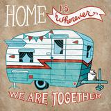 Adventure Love Camper Taupe Reprodukcje autor Mary Urban