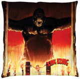 King Kong - At The Gates Throw Pillow Throw Pillow