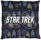 Star Trek - Enterprise Crew Throw Pillow Throw Pillow