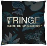 Fringe - Logo Throw Pillow Throw Pillow
