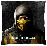 Mortal Kombat X - Scorpion Throw Pillow Throw Pillow