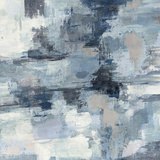 In the Clouds Indigo and Gray Crop Art by Silvia Vassileva