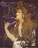 JOB Cigarettes, c. 1897 Prints by Alphonse Mucha