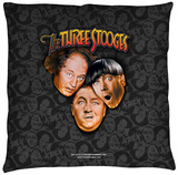 Three Stooges - Stooges All Over Throw Pillow Throw Pillow