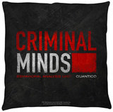 Criminal Minds - Logo Throw Pillow Throw Pillow