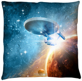 Star Trek - Final Frontier Throw Pillow Throw Pillow