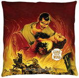 Gone With The Wind - Fire Poster Throw Pillow Throw Pillow
