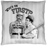 Abbott And Costello - First Throw Pillow Throw Pillow